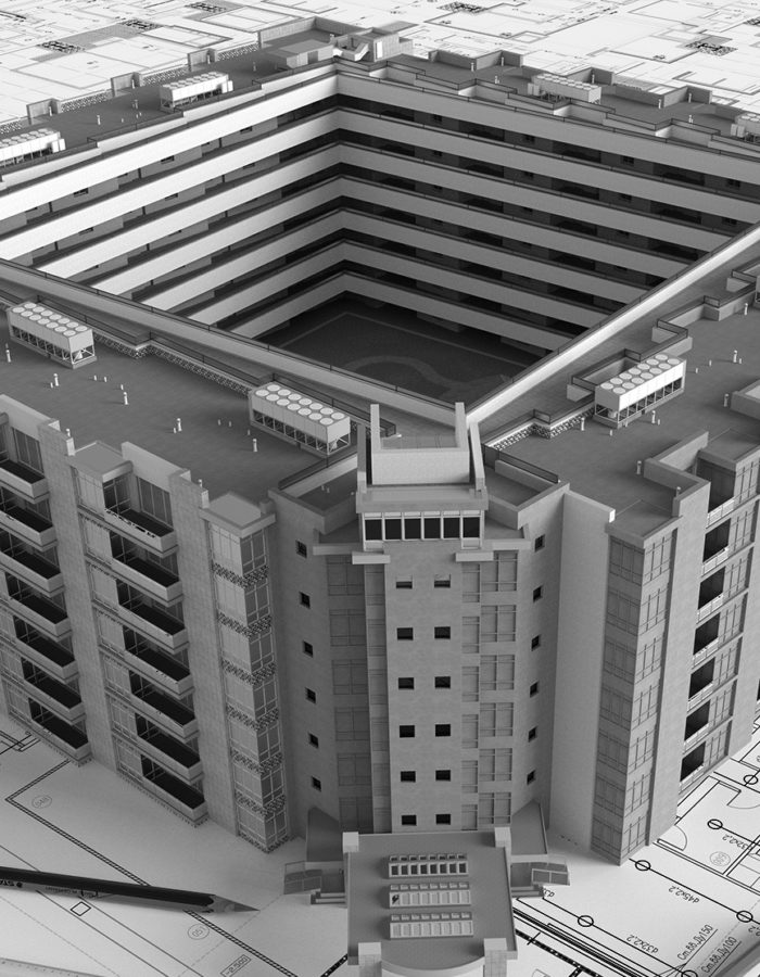 Bauprojekt als Modell