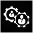 Icon Zusammenarbeit schwarz