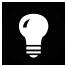Icon Glühbirne schwarz