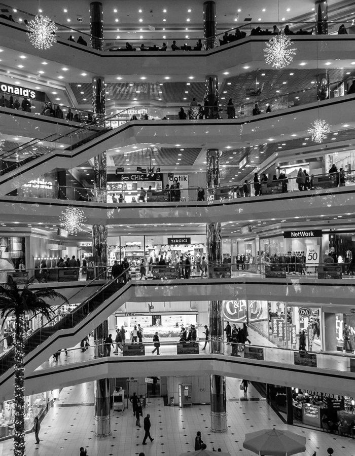 Shoppingcenter, Einzelhandel, Geschäfte