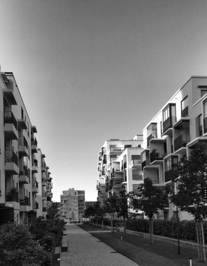 Gebäude in Deutschland, Wohnungskomplex, Neubausiedlung
